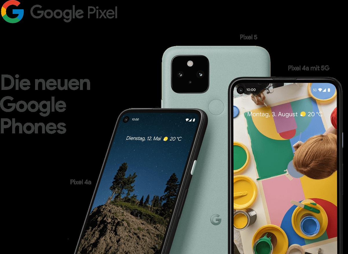 Grafik alle neuen Pixel Geräte